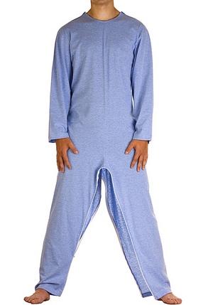 pigiama tuta intero con cerniera gambe 1007-b