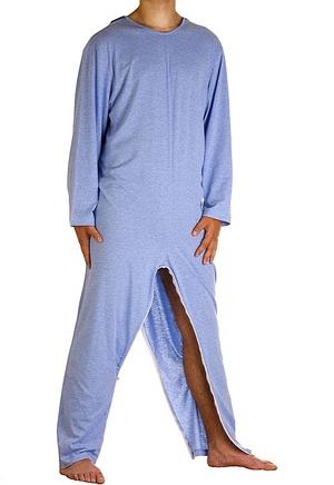 pigiama tuta intero con cerniera gambe 1007-a