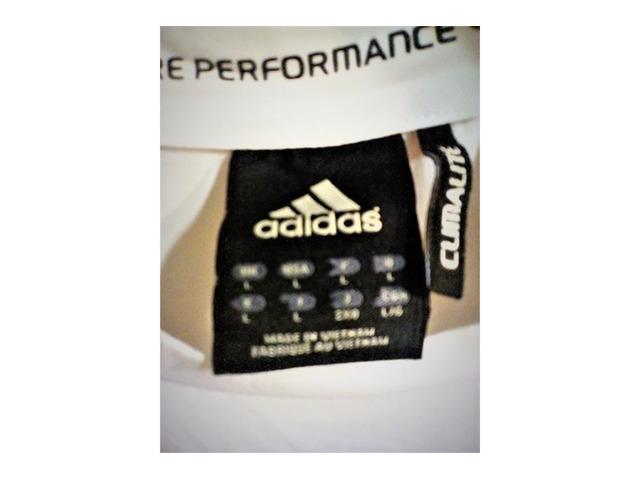 T SHIRT Originale Adidas Taglia L BIANCA - Immagine4