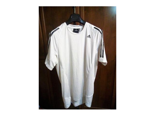 T SHIRT Originale Adidas Taglia L BIANCA - Immagine1